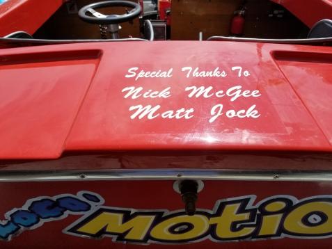 Race Boat Lettering