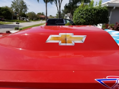 Chevy Emblem on Race Boat