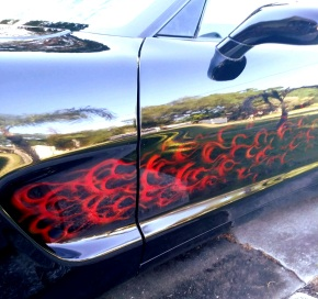 Red True Fire on Vette