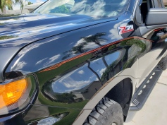 Red stripes on black GMC