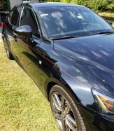 Fine red stripes on Lexus