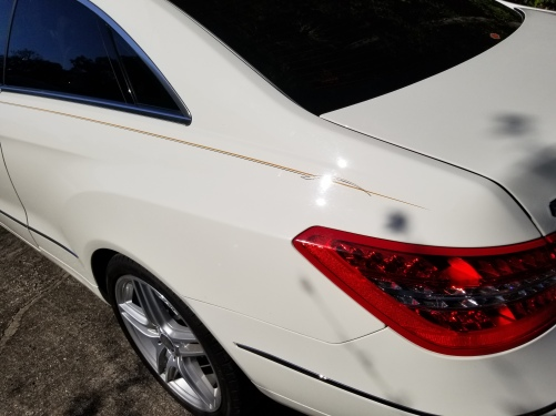 Double body lines with point accent and tail accent