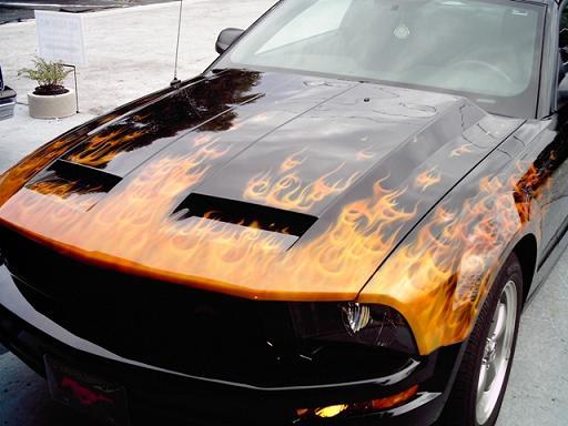 True fire on Mustang