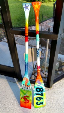 Boat Oars Airbrushed
