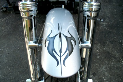 Front Fender - tribal pinstripe design
