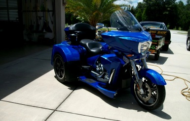 Custom Trike- Airbrushed graphics and hand painted pinstripes