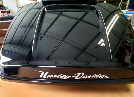 Silver Pinstriping & Lettering