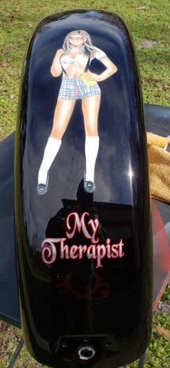 Custom Black Cherry paint & Pinup Girl