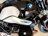 Painted Embossed NineT letters on BMW Bike
