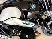 Painted Embossed NineT letters on BMW Bike