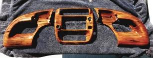 Dash board parts airbrushed like woodgrain