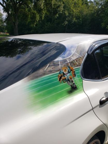 JAX Jaguars theme on sail panel
