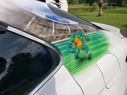 Gators football theme on sail panel