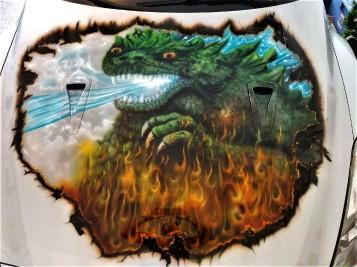 Godzilla on Hood