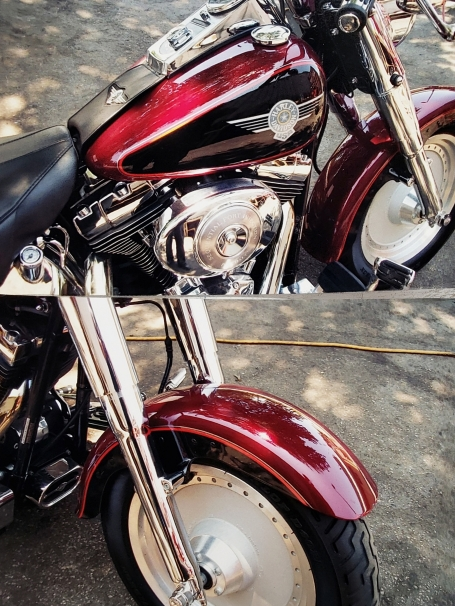 Harley painted and striped