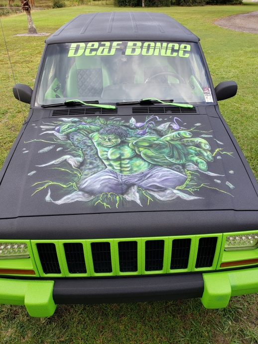 Hulk on Jeep Hood