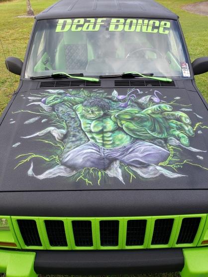 Hulk on Jeep Hood