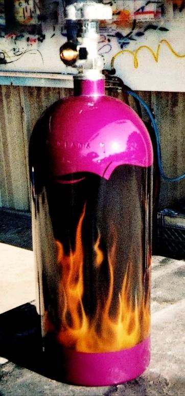 Airbrushed Nitros Bottle