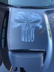 Punisher Skull Airbrushed on Challenger Hood