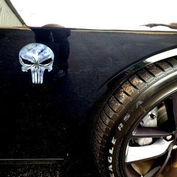 Punisher Skull Side emblem on Challenger