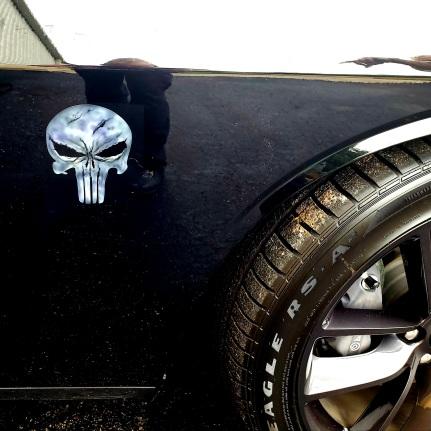 Punisher Skull Side emblem on Challenger