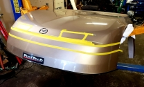 Race Car front end...simulated lights, grill & molding (Before)