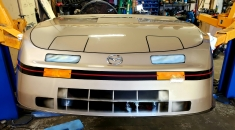 Race Car front end...simulated lights, grill & molding (After)