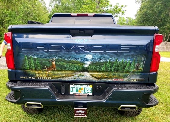 Woodland Mural on Tailgate