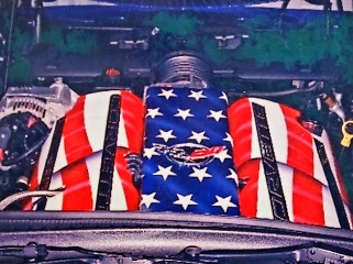 Vette engine covers USA Theme