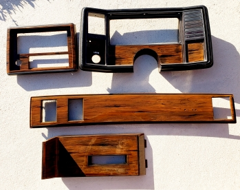 Dash Board parts airbrushed wood grain effect