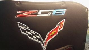 Hood Liner vette ZO6 Airbrushed logo