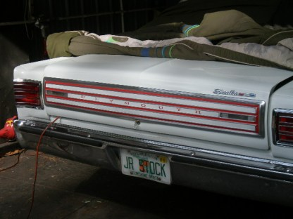 66 Plymout rear deck grill