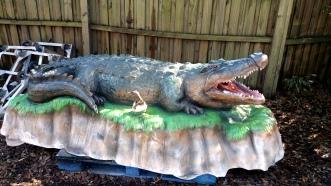 Alligator statue after