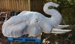 Elephant statue before