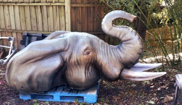 Elephant Statue after